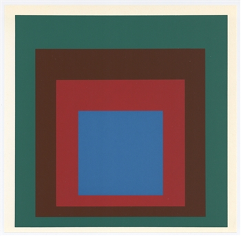josef albers serigraph homage to the square. Black Bedroom Furniture Sets. Home Design Ideas